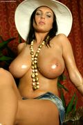 Ewa Sonnet pics oiling her HUGE breasts